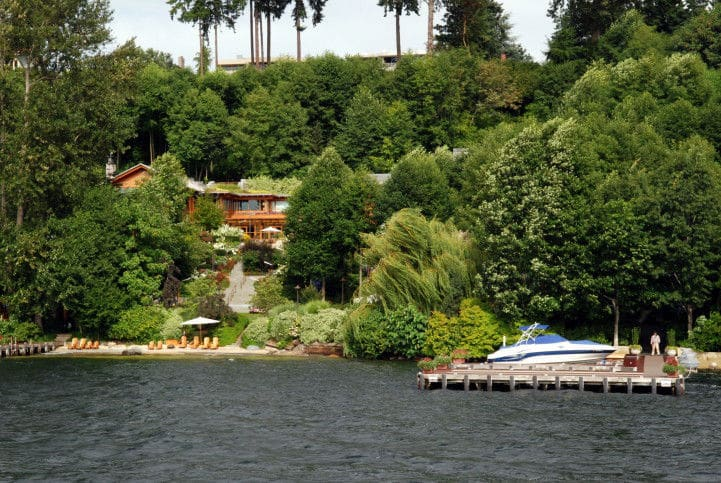 Bill Gates Anwesen am Lake Washington