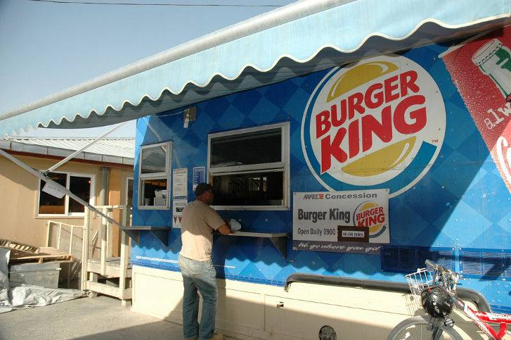 Burger King Bagram Air Base Afghanistan