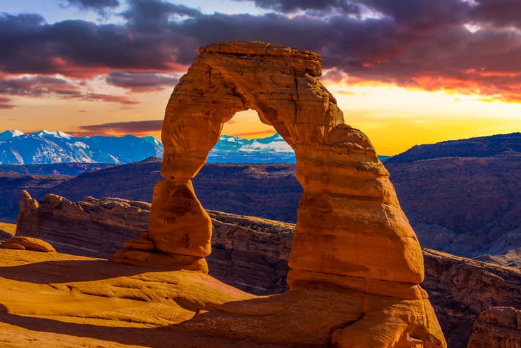 Delicate-Arch-im-Arches-Nationalpark-in-Utah-USA