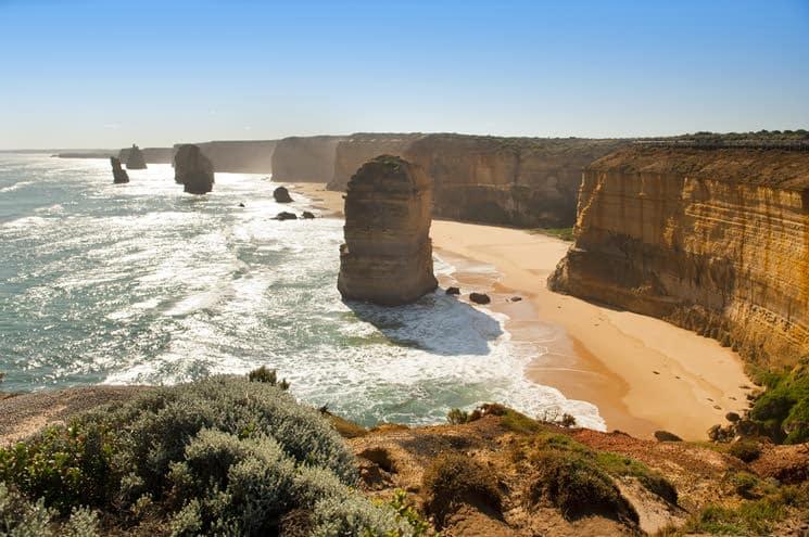 Twelve-Apostles-Kalksteinfelsen-in-Australien