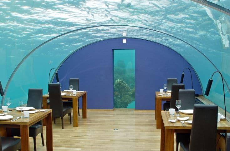 Ithaa Unterwasserrestaurant Malediven