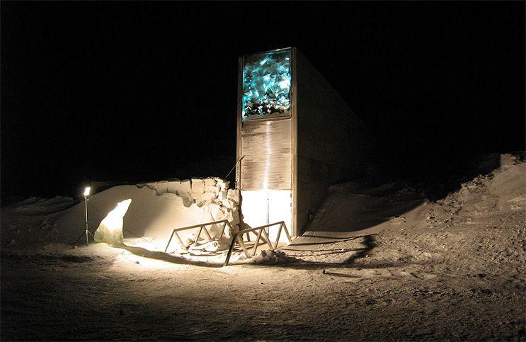 Saatgut-Tresor Svalbard Global Seed Vault auf Spitzbergen