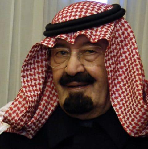 Der König von Saudi-Arabien, Abdullah bin Abdulaziz Al Saud