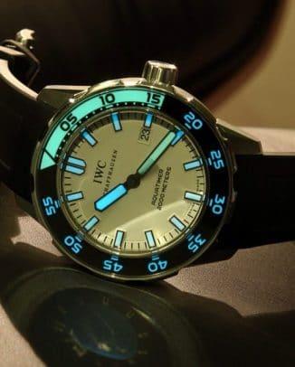 IWC Aquatimer glow in the dark