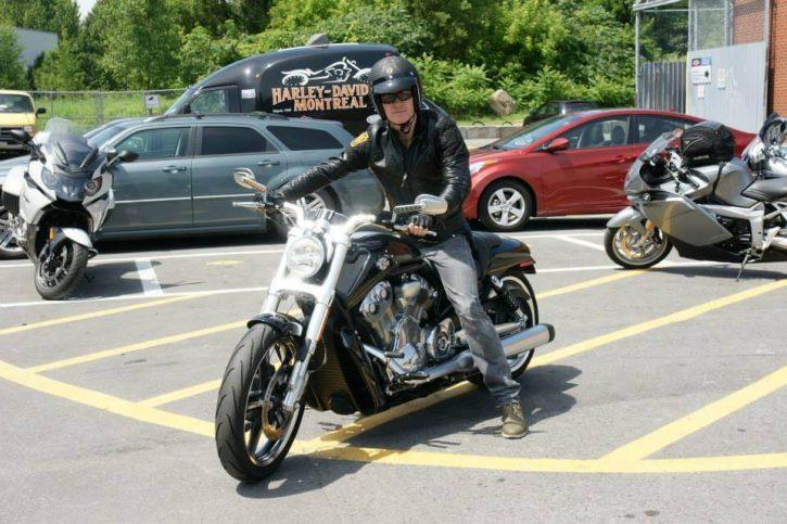 Michael Fassbender Harley Davidson V-Rod