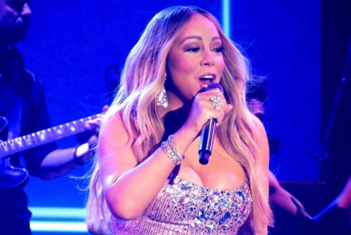 Mariah Carey während des Caution World Tour Konzerts in Amsterdam