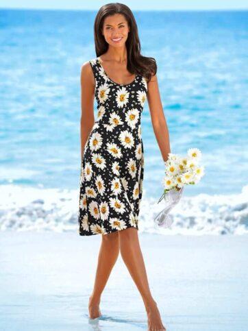Kleid mit üppigen Blütenmustern